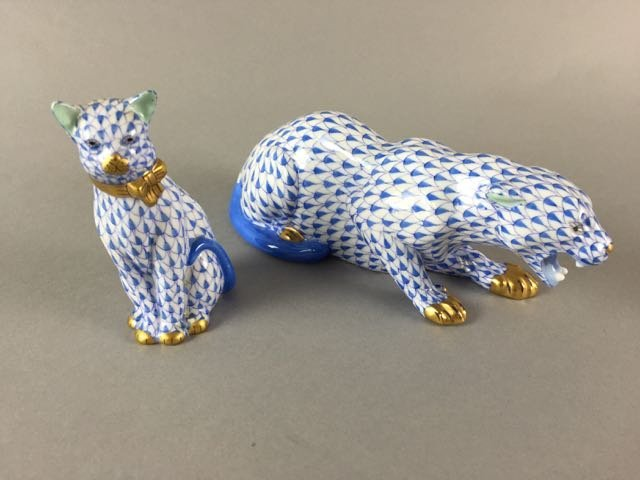 Lot of 2 Herend Cats - 2