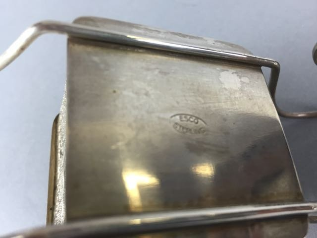 Sterling silver spice box on wheels - 2