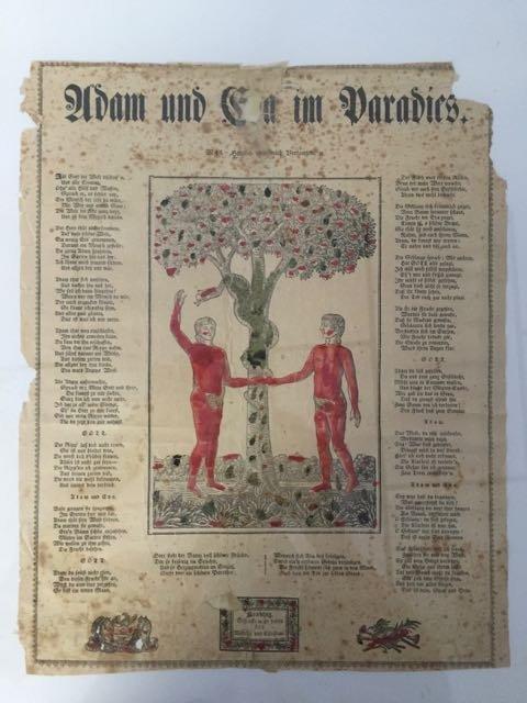 """""""Adam and Eve in Paradise"""" Fraktur - 2"""