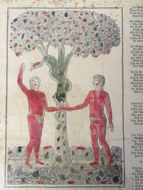 """""""Adam and Eve in Paradise"""" Fraktur - 5"""