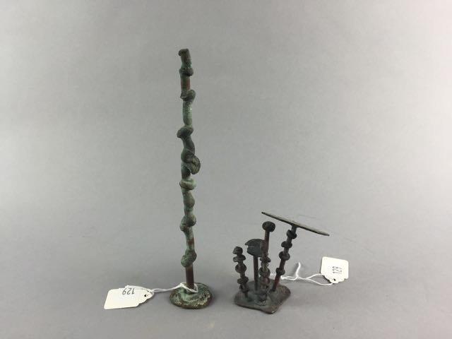 2 Klaus Ihlenfeld bronze sculptures