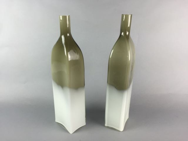 2 mid century glass bottles - 2