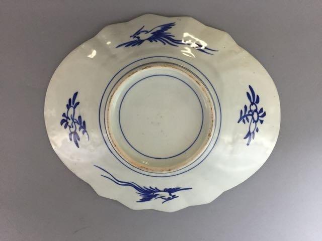 Imari fan platter - 2