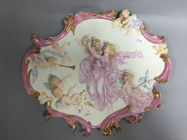 Porcelain wall plaque