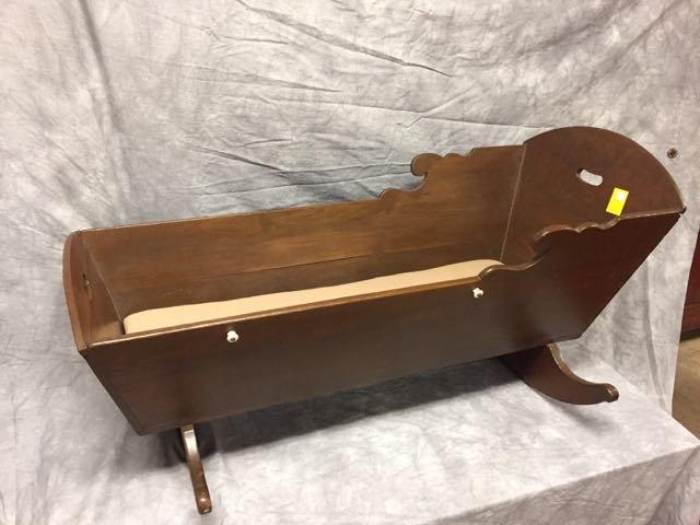 Childs Antique Cradle - 4