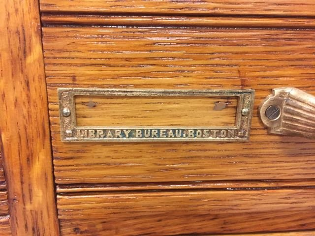 Antique Oak 30 Drawer Library File Cabinet - 5