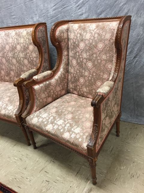 Antique Carved Sofa and Arm Chair - 2