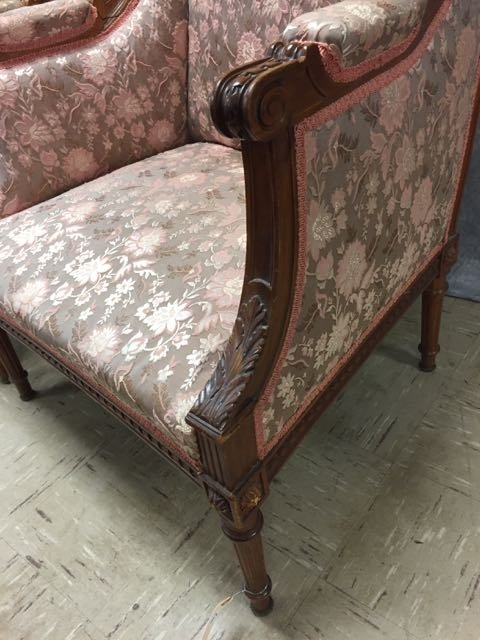 Antique Carved Sofa and Arm Chair - 3