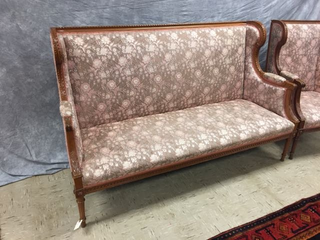 Antique Carved Sofa and Arm Chair - 4