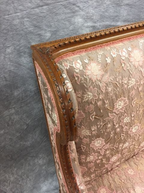 Antique Carved Sofa and Arm Chair - 6