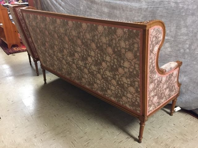 Antique Carved Sofa and Arm Chair - 7