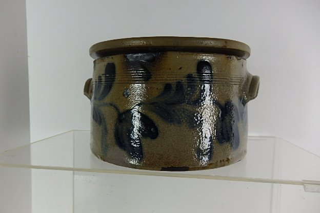 19th Century Stoneware Cake Crock with Lid - 2