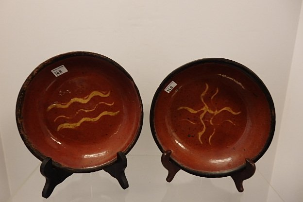 Lot 2 Red Ware  Plates