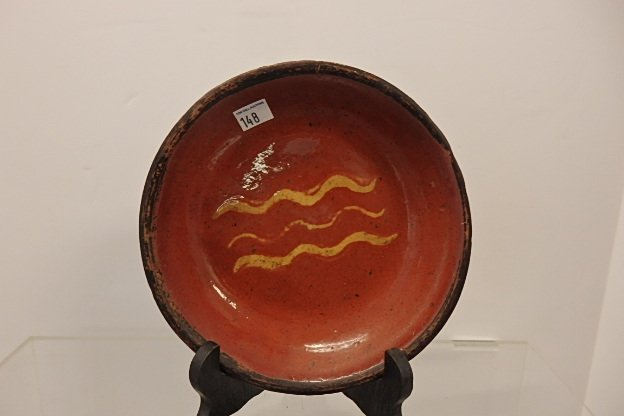 Lot 2 Red Ware  Plates - 3