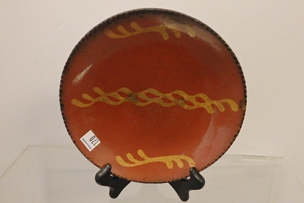 Early Slip Decorated Red Ware Plate