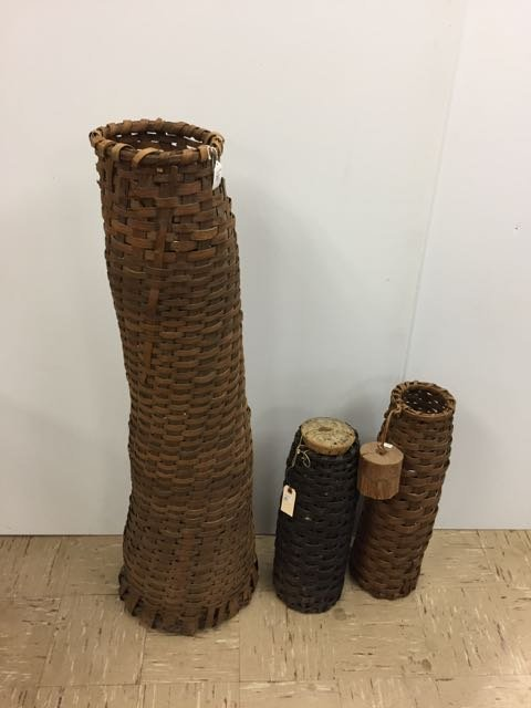 3 Vintage Fishing Traps/Baskets - 2