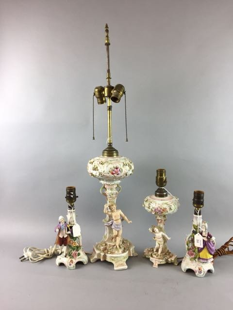 Porcelain Table Lamp Lot - 2