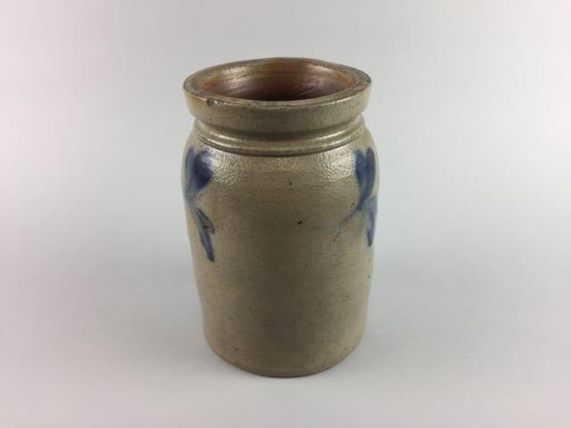 Decorated Stoneware Storage Jar - 2