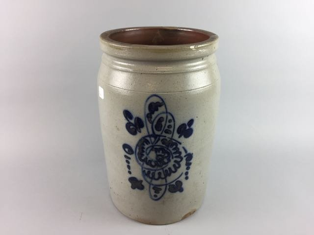 Decorated Stoneware Storage Jar