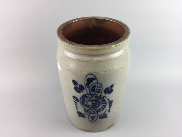 Decorated Stoneware Storage Jar - 2