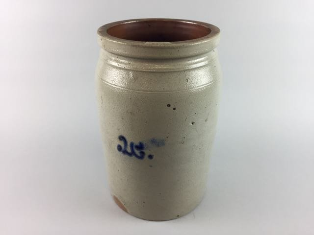 Decorated Stoneware Storage Jar - 3