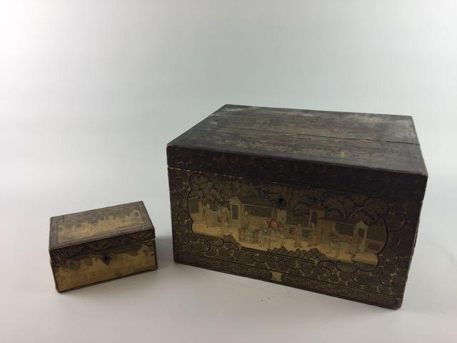 2 Asian Tea Boxes