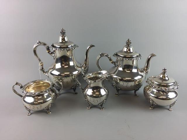 5 Piece  Sterling Coffee Tea Service