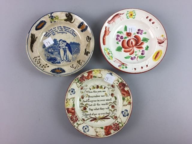 Lot of 3 Soft Paste and Gaudy Plates