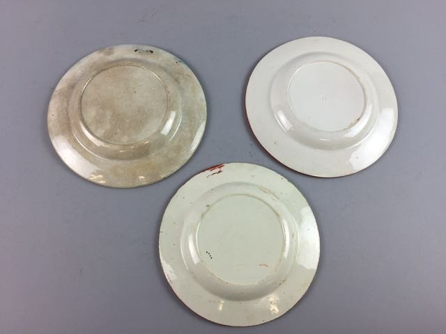 Lot of 3 Soft Paste and Gaudy Plates - 2