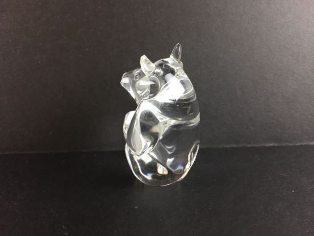 Stueben Crystal Bull Figure - 3