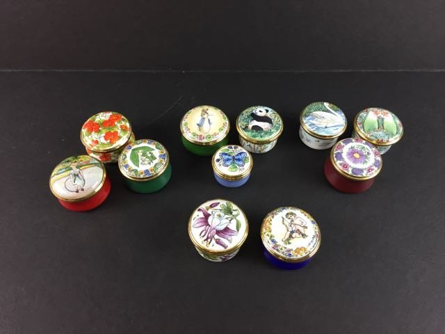 11 Enamel Pill Boxes - 2