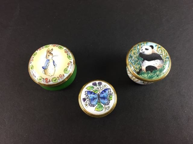11 Enamel Pill Boxes - 5