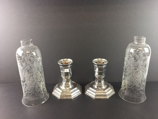 Pair Christofle France Candle Stands