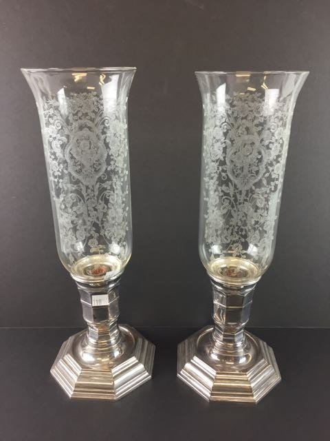 Pair Christofle France Candle Stands - 2