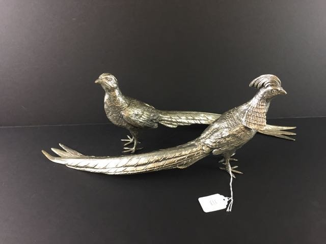 Pair Pheasant Figures