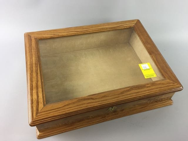 Burled Maple Table Top Display Case - 4