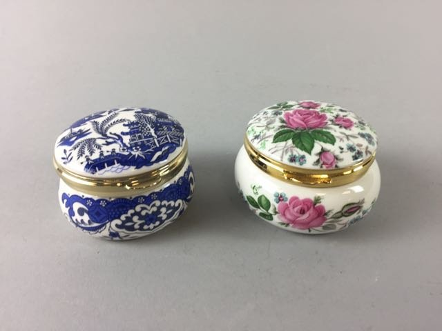 2 Staffordshire Trinket Boxes