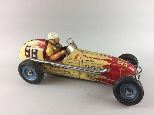 Tin Race Car with Driver