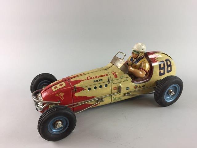 Tin Race Car with Driver - 3