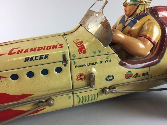 Tin Race Car with Driver - 4