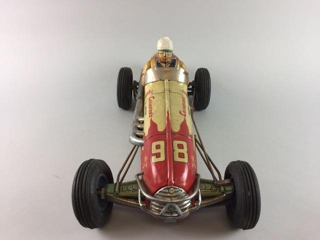 Tin Race Car with Driver - 8