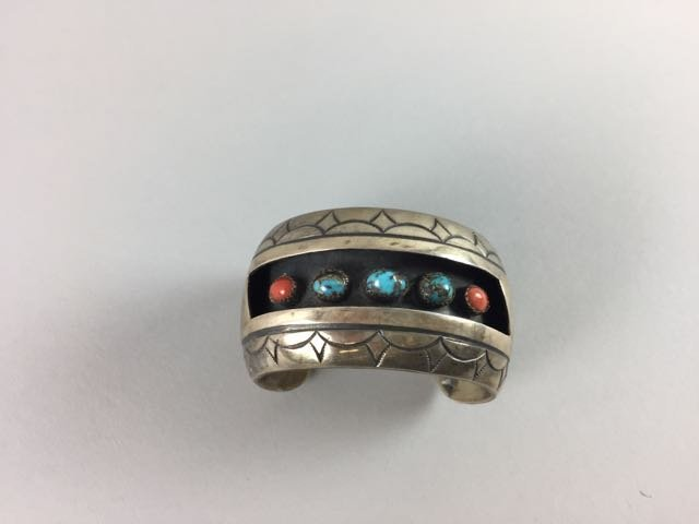 Sterling Native American Bracelet - 3