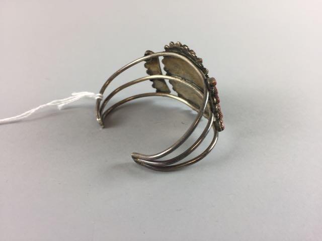 Sterling Native American Bracelet - 2