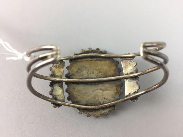 Sterling Native American Bracelet - 3