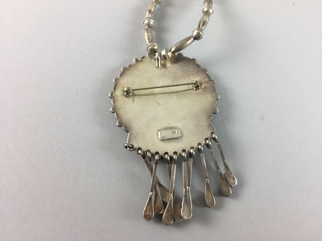 Sterling Native American Necklace - 3