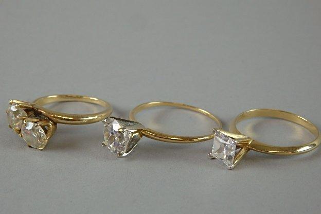 Lot of Three 14k Rings - 5