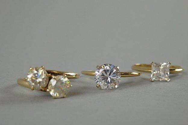 Lot of Three 14k Rings - 6