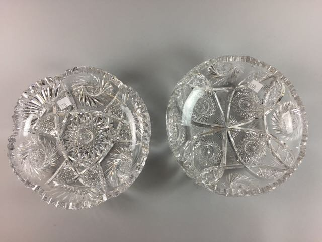 2 Piece Cut Glass Lot