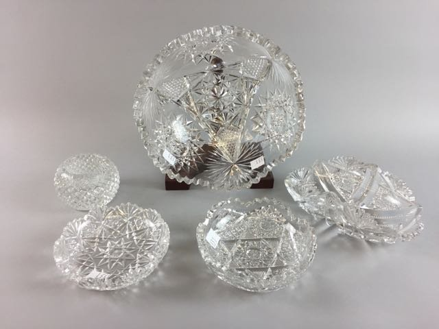 5 Pieces Cut Glass Lot
