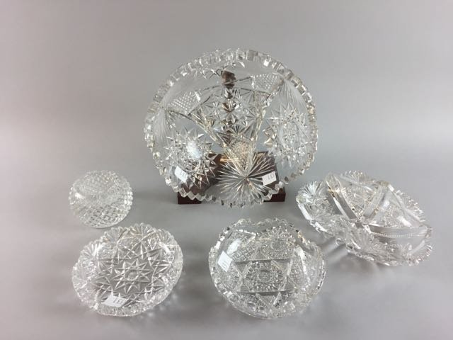 5 Pieces Cut Glass Lot - 2
